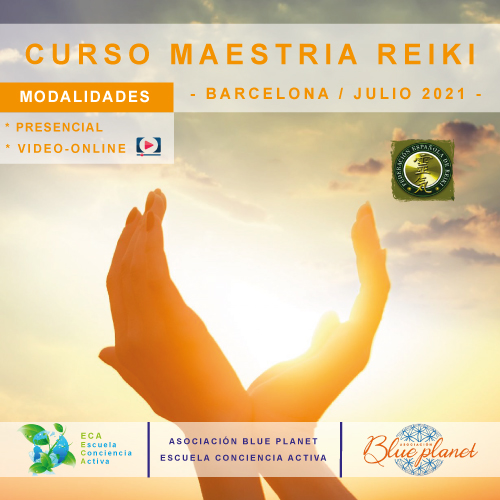 Curso Maestria Reiki - Barcelona Julio 2021